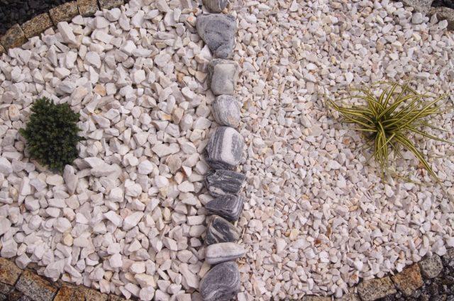 kamień ogrodowy grys grecki biały white angel