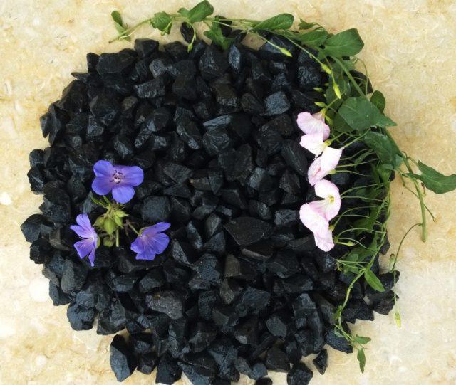 kamień ogrodowy grys bazalt czarny